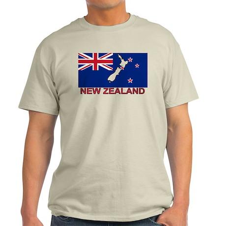 New Zealand Flag (labeled) Light T-Shirt