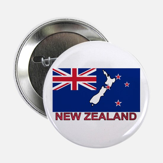 """New Zealand Flag (labeled) 2.25"""" Button"""