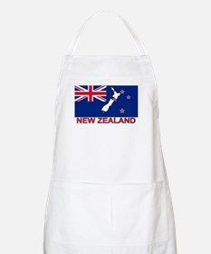 New Zealand Flag (labeled) BBQ Apron