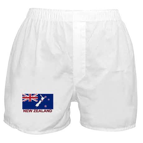 New Zealand Flag (labeled) Boxer Shorts