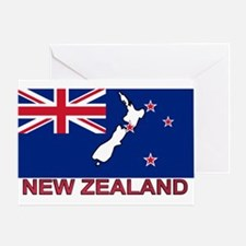 New Zealand Flag (labeled) Greeting Card