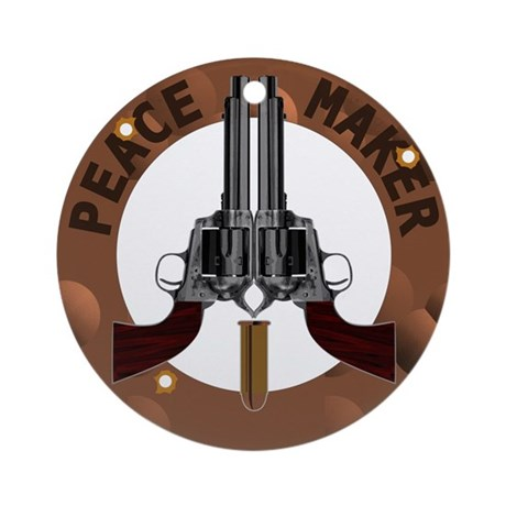 Peace Maker Ornament (Round)