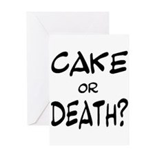 Cool Cake death Greeting Card