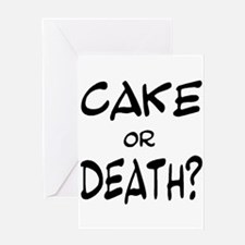 Funny Cake death Greeting Card