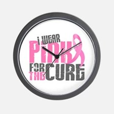 I Wear Pink For The Cure 6.2 Wall Clock