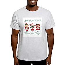 Christmas Caroler Ash Grey T-Shirt