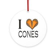 I love (heart) Cones :: Autocross Ornament (Round)
