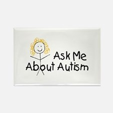 Ask Me About Autism Rectangle Magnet (10 pack)