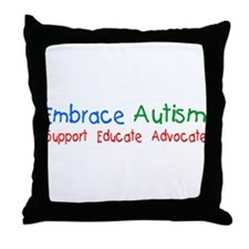 Embrace Autism Throw Pillow