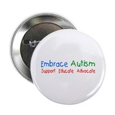 "Embrace Autism 2.25"" Button"