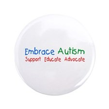 "Embrace Autism 3.5"" Button (100 pack)"