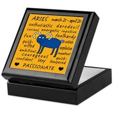 Aries Zodiac Personality Keepsake Box