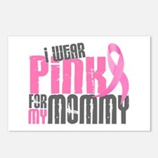 I Wear Pink For My Mommy 6.2 Postcards (Package of