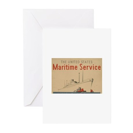 Merchant Marines Greeting Cards (Pk of 10)