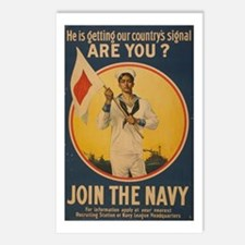 Join the Navy Postcards (Package of 8)