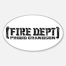 Proud Grandson Fire Dept Oval Decal