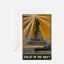 "WWII ""For Liberty's Sake"" Greeting Card"