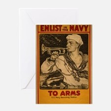 "WWII ""Navy to Arms"" Greeting Card"