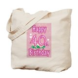 40th birthday Totes & Shopping Bags