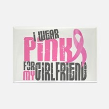 I Wear Pink For My Girlfriend 6.2 Rectangle Magnet