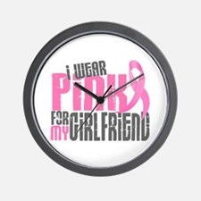 I Wear Pink For My Girlfriend 6.2 Wall Clock