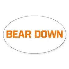 Bear Down Oval Decal