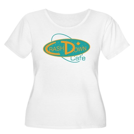 Crashdown Cafe Women's Plus Size Scoop Neck T-Shir
