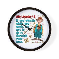 Life Lesson #2 Wall Clock
