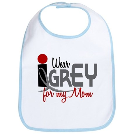 I Wear Grey For My Mom 32 Bib