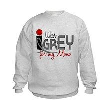 I Wear Grey For My Mom 32 Sweatshirt