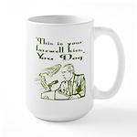 Bush's Farewell Kiss Large Mug