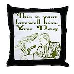 Bush's Farewell Kiss Throw Pillow