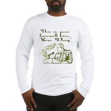 Bush's Farewell Kiss Long Sleeve T-Shirt