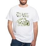 Bush's Farewell Kiss White T-Shirt