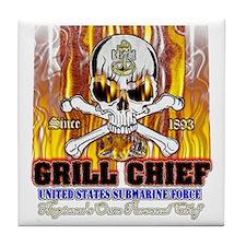CPO Skull & Bones BBQ Tile Coaster