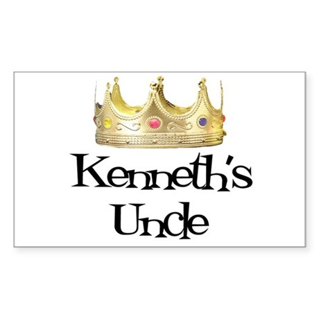 Kenneth's Uncle Rectangle Sticker