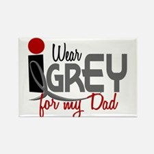 I Wear Grey For My Dad 32 Rectangle Magnet