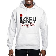 I Wear Grey For My Dad 32 Jumper Hoody