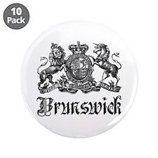 "Brunswick Vintage Crest Family Name 3.5"" Button (1"