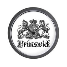 Brunswick Vintage Crest Family Name Wall Clock