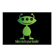 Take Me To Your Leader Postcards (Package of 8)