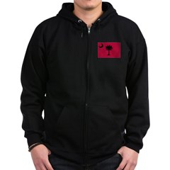 Black and Garnet South Caroli Zip Hoodie