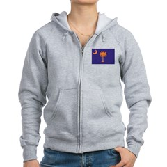 Orange and Purple SC Flag Zip Hoodie