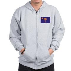 Orange and Purple SC Flag Zip Hoodie