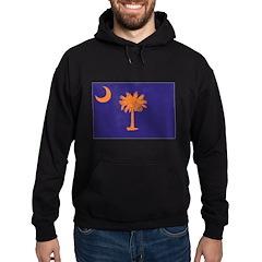 Orange and Purple SC Flag Hoodie (dark)