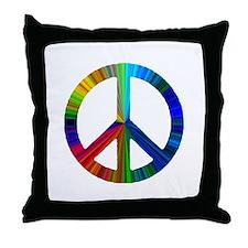 Cute Peace love massage Throw Pillow