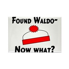 Found Waldo Rectangle Magnet