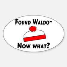 Found Waldo Oval Decal