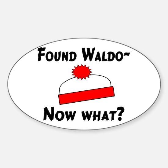 Found Waldo Oval Decal