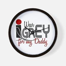 I Wear Grey For My Daddy 32 Wall Clock